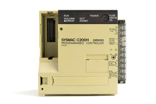 オムロン CPUユニット C200H-CPU01 (90年3月製・欠けあり)
