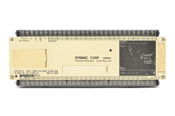 オムロン プログラマブルコントローラ C40P-CDT1-A (89年2月製)