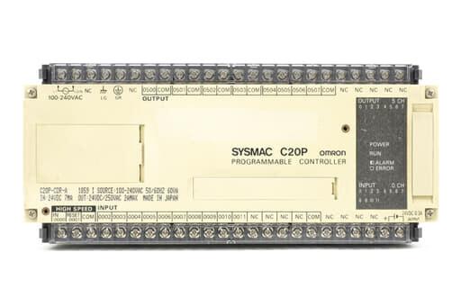 オムロン プログラマブルコントローラ C20P-CDR-A (89年5月製・出力0504表示部故障)