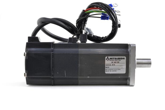 三菱 ブレーキ付きACサーボモータ HC-MF43B (異音あり・ケーブルが短い)