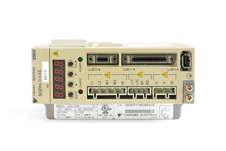 安川電機 ACサーボパック SGDH-04AE (ソフトVer0014)