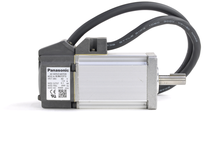 パナソニック MINAS Eシリーズ サーボモータ MUMA012P1S (シャフトにキズあり)