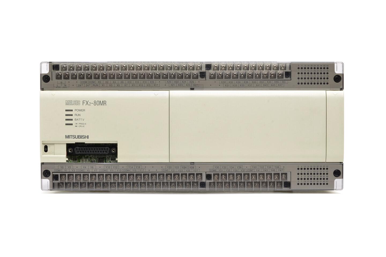 三菱 シーケンサ FX2-80MR (96年製・V3.30・DINレールの固定が不安定)