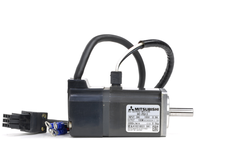 三菱 ACサーボモータ HC-PQ13 (ケーブルが短い)