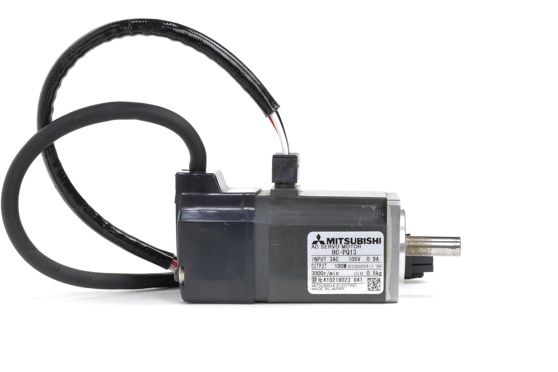 三菱 ACサーボモータ HC-PQ13 (ケーブルが短い・シャフトに錆あり)