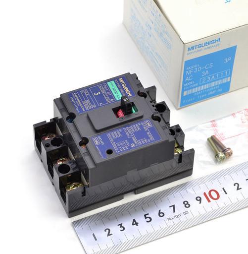 三菱 ノーヒューズ遮断器 NF30-CS 3P 3A