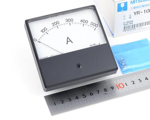 三菱 指示電気計器 YR-10NAA 0-500A 500/5A