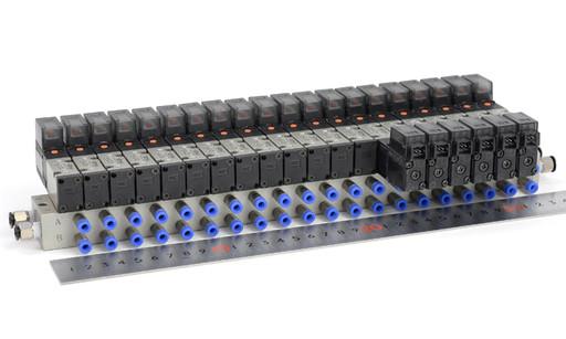 SMC 20連マニホールドバルブ VZ3143+VZ3243