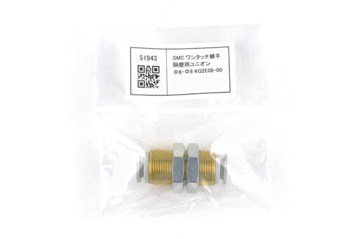 SMC ワンタッチ継手 隔壁用ユニオン Φ8-Φ8 KQ2E08-00