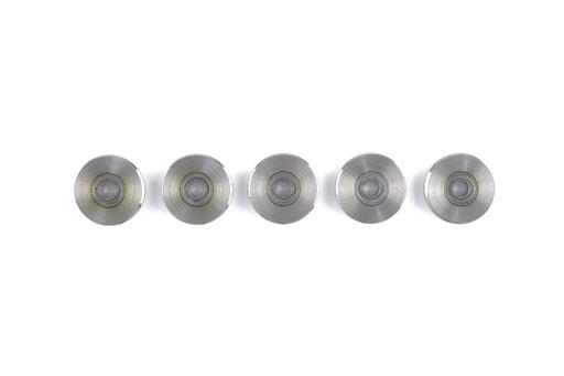 外輪溝付きガイドベアリング5個入 内径Φ4、外径Φ18-Φ18.85