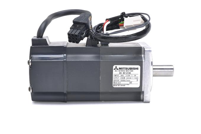 三菱 ブレーキ付きACサーボモータ HC-KFS23B (ケーブルが短い)