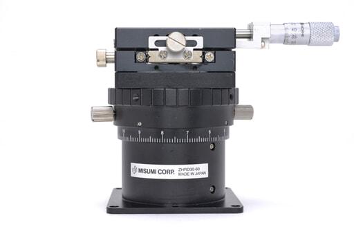 ミスミ 水平面Z軸付きXYステージ ZHRD30-60 (60×60mm)