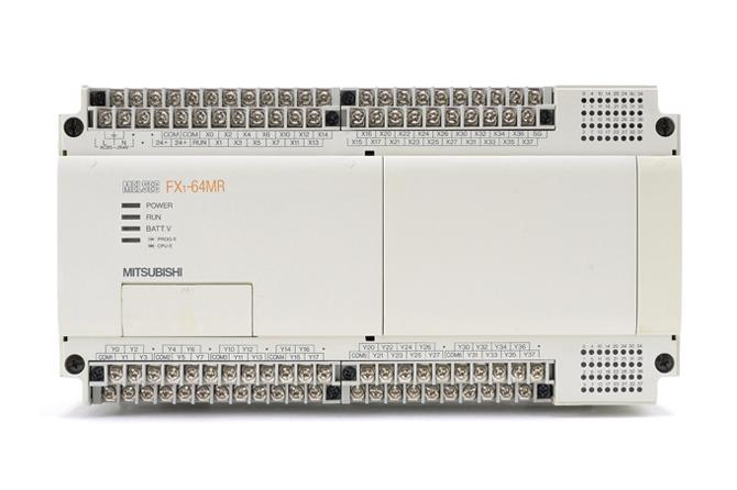 三菱 シーケンサ FX1-64MR (98年6月製・DINレールの固定が不安定)