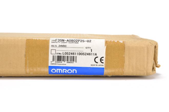 オムロン セーフティライトカーテン/マルチビームセーフティセンサ F3SN-A0802P25-02