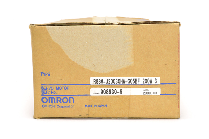 オムロン ACサーボモータ/ドライバ(OMNUC Uシリーズ) R88M-U20030HA-G05BF (00年4月製)