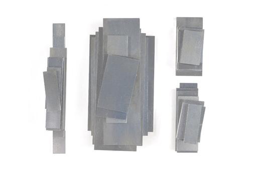 いろいろなアルミ板(A7075相当品) 板厚8mm(約134×265mm以下) 約5.2kg入り