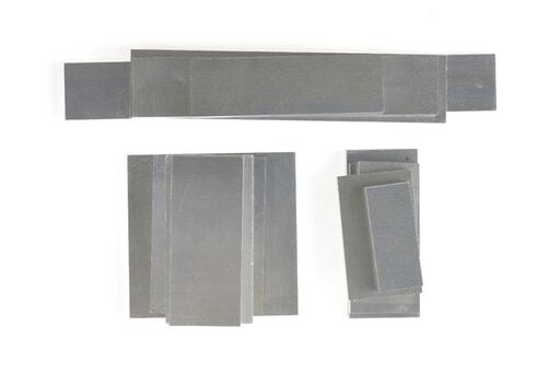 いろいろなアルミ板(A7075相当品) 板厚10mm(約133×350mm以下) 約3.5kg入り